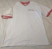 Formula 1 Panasonic Toyota Racing F1 Men's T-shirt XL White Red Stripes Sleeve