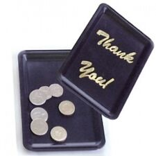 10x Black Plastic Thank You Tip Tray Bill Presenter Waiter Bar Pub Catering