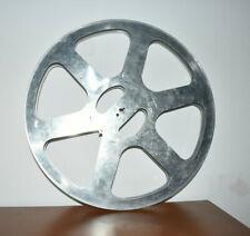 BOBINA VINTAGE  PARA  PELÍCULA Y  PROYECTOR 16mm, en metal aluminio