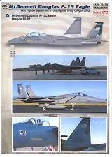 Print Scale Decals 1/72 MCDONNELL DOUGLAS F-15 EAGLE Oregon Air National Guard