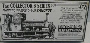 BACKWOODS MINIATURES NARROW GAUGE 009 SCALE ENGINE KIT MANNING WARDLE CANOPUS