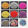 Wholesale 4/6/8/10/12/14mm With Hole ABS Pearl Acrylic Beads DIY 23 Color