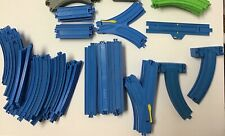 83 Pc Thomas & Friends TrackMaster TOMY Blue Train Tracks Lot, 1990's 2000's