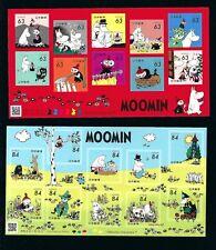 JAPAN 2021  Moomin Cartoon  Mini S/S   x 2 stamp