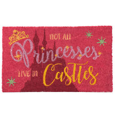 PRINCESS NOT ALL PRINCESSES LIVE IN CASTLES CLASSIC TRADITIONAL COIR DOOR MAT