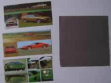 Lamborghini Range Miura Espada Countach 1973 Original Multilingual Brochure