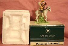 "Norman Rockwell Figurine ""Off To School"""