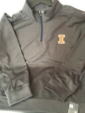 University of Illinois Illini gray quarter zip 2XL XXL 50/ Mens