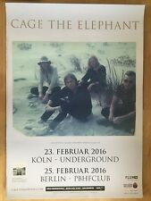 CAGE THE ELEPHANT 2016 TOUR - orig.Concert Poster -- Konzert Plakat  A1 NEU