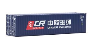 IGRA Model 96020023/3 Container, China Railway Express, blau 40ft, Spur H0