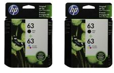 4 Pack HP #63 Cartridges Combo 63 Black & Color (2 of each) NEW GENUINE
