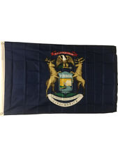 New 2x3 Michigan State Flag Us Usa American Flags