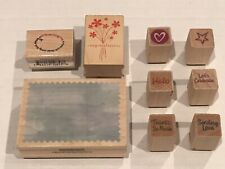 Rubber Stamps Wood Mounted Hero Arts & Others (9 Stamps)
