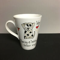 """Thanks for Looking After Me"" Dog Mug Cup Hand Painted by Lynda Funstuff Signed"