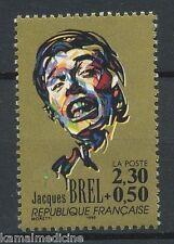 Brel Jacques, Belgian singer, Songwriter, Actor  Music, France 1990 MNH