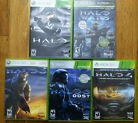 USED Halo Combat Evolved+ Halo Wars + 3 + 3 ODST + 4 Microsoft Xbox 360 Lot Of 5