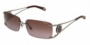 TIFFANY & CO .  sunglasses - TF3005B 6OO33L -  Gray / Purple - Swarovski  Womens