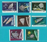 Hungría De 1964 Perfecto Estado Minr. 1991-1998 B Exploración Espacial
