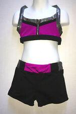 CaliforniaKisses City Chic Outfit Large Silver Strappy Top Shorts Dance Lot 8 10