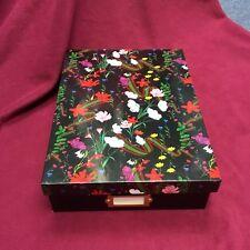 Brand New Cynthia Rowley Document Box Floral