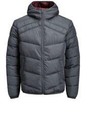 Cappotti e giacche da uomo grigio con cappuccio JACK & JONES
