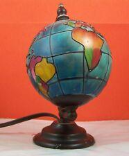 Glass desk lamp/night light, planet Earth Globe electric light