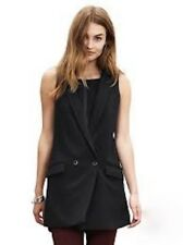 BANANA REPUBLIC BLACK DOUBLE BREASTED LONG VEST  2