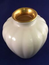 Scalloped Shell Style Vase Hand Decorated w/ 24K Gold