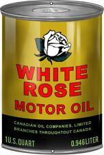 """White Rose Motor Oil"" STEEL WALL DECORATION SIGN / Garage / Mancave / Sheds"