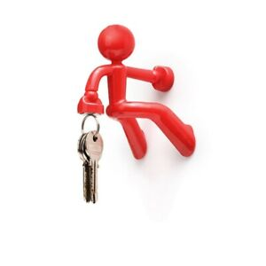 KEY PETE Red Magnetic Man Holder Strong Man Office Home  By Peleg Design