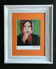 ANDY WARHOL ORIGINAL 1984 SIGNED AWESOME PRINT MATTED 11X14 + IVAN KARP