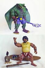 "Maui Legend Of Sharkman A/F Resin Prototypes: Green Manta & Maui 6"" Super Rare!"