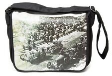 PLAN B RETRO RACETRACK CLASSIC CAR MESSENGER / REPORTER / SCHOOL / UNI BAG PB021
