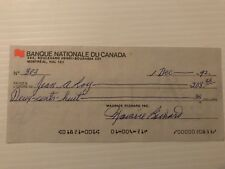 Maurice Richard signed (Maurice Richard Inc.) cheque #303 (autographed)