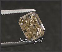 Diamant im Radiant Schliff 0,61 ct mit Zertifikat, Champagner / Si2, unbehandelt