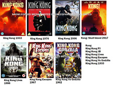 KING KONG 7 MOVIE FILM COLLECTION DVD SKULL ISLAND LIVES ESCAPES GODZILLA R 2 UK