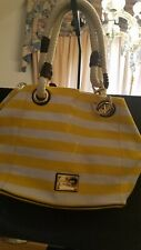 New ListingMichael Kors Marina Canvas Mk ⚓�Grab Bag Anchor Yellow Striped Tote Bag
