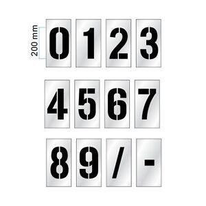 0 TO 9 - Number Stencil Set / Car Park Stencil / Spray Paint Stencil -200mm High