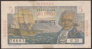 "French Guiana 5 Francs P-19 (1947) ""see description"""