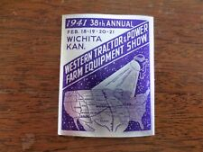 1941 Western Tractor Power Farm Equipment Show Foil Poster Stamp Wichita KS