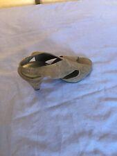 Viva La Diva Women Grey Suede Slingback Shoes Size 5