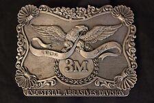 Vintage Pewter 3M Industrial Abrasives Belt Buckle 1976  Eagle. Advance RARE!
