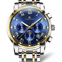 Men's Watch Wristwatch Business Quartz Sport Man Stainless Steel Waterproof Date