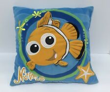 "Disney  3-D Baby Finding Nemo Pillow Plush Bedding Decor Stuffed Fish 14"" EUC"