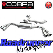 "Cobra Audi TT MK2 1.8 & 2.0 TFSi 3"" Cat Back Exhaust System Stainless Quad Exit"