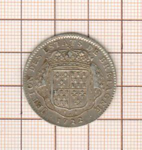 jeton argent Louis XV couronné ,  états de Bretagne 1722 Nantes