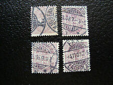 DANEMARK - timbre - yvert et tellier n° 39 x4 obl (A12) stamp denmark