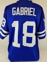 Roman Gabriel Unsigned Custom Sewn Royal Blue Football Jersey Size - L, XL, 2XL