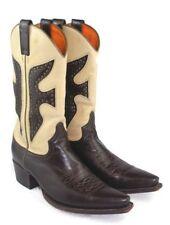 Frye Daisy Duke Womens Western Cowboy Boots # 77780  Dark Chocolate/Cream 9 M