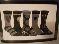 Marvel Avengers BLACK PANTHER Men's Casual Crew Socks 5 PAIR PACK Size(10-13)